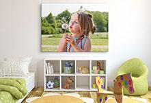 Chambre-enfant-photo-toile-fleur