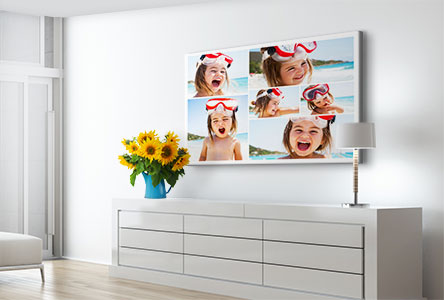 Collage-toile-salon-enfant-vacances