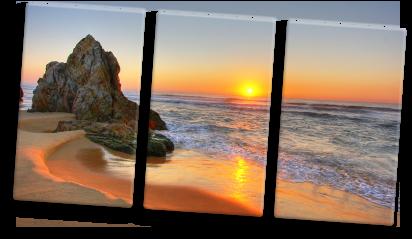 Toile-en-plusieurs-parties-coucher-de-soleil