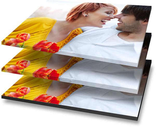 Options cadre et bords pour photo sur toile