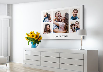 Collage photo sur toile toile dans chambre