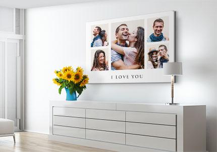chambre collage toile love