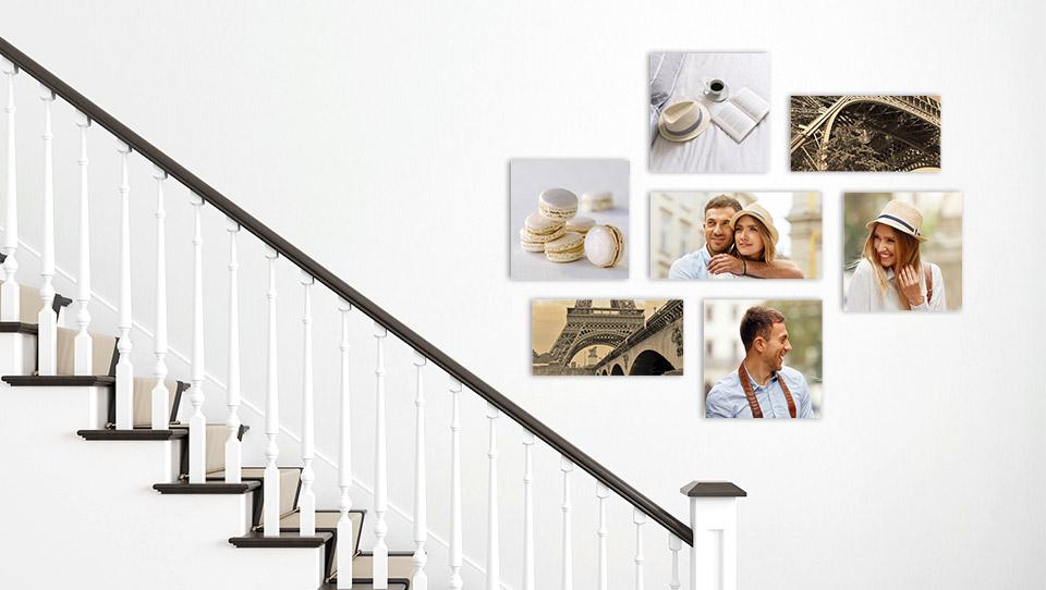 deco mur escalier salon