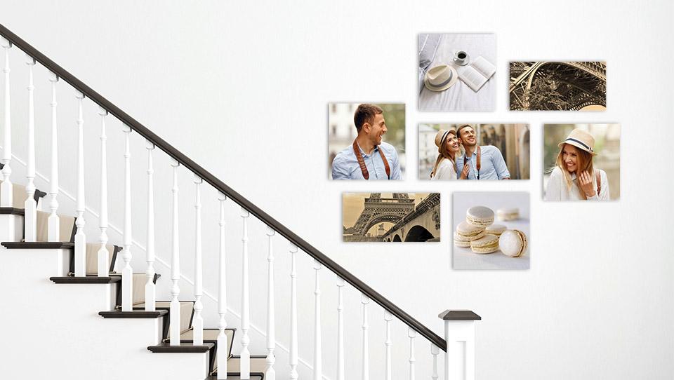 decoration murale montee escalier salon