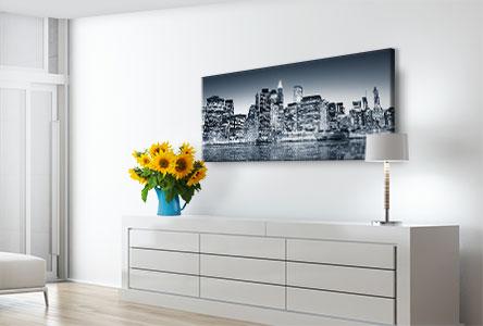 Impression panoramique sur toile dans la chambre