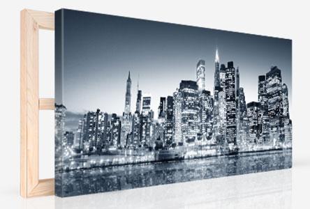 Photo sur toile panoramique sur châssis en bois