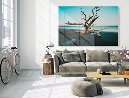Impression photo sur toile grand format dans salon