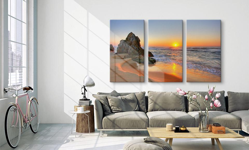 Grande photo sur toile imprimée en 3 parties